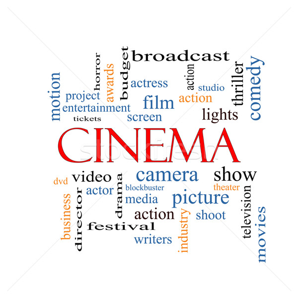 Cinema nor cuvant aparat foto film arăta Imagine de stoc © mybaitshop