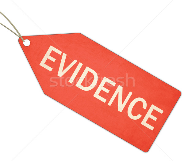 Evidence Red Tag and String Stock photo © mybaitshop