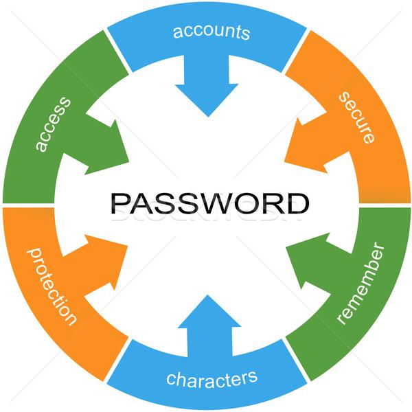 Parola d'ordine parola cerchio sicuro accesso Foto d'archivio © mybaitshop