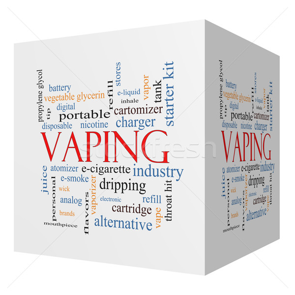 Vaping 3D cube Word Cloud Concept Stock photo © mybaitshop