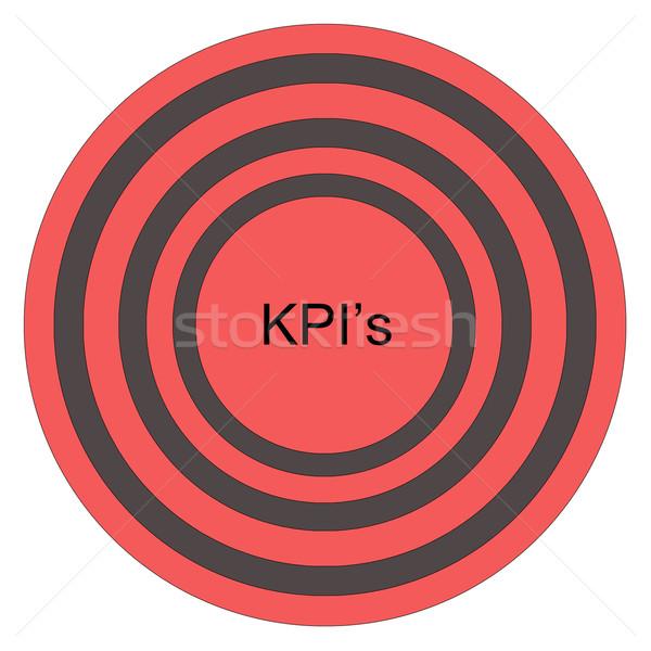 KPI's Bullseye Stock photo © mybaitshop