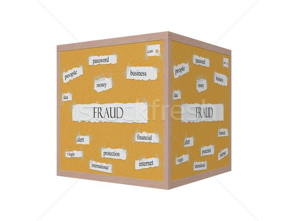 Fraud 3D Corkboard Word Concept Stock photo © mybaitshop