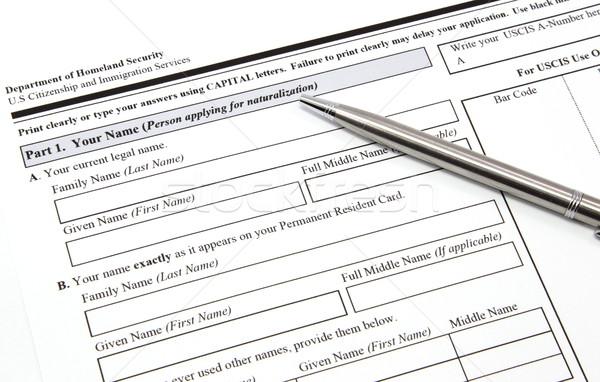 гражданство применение иммиграция пер готовый бумаги Сток-фото © mybaitshop