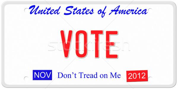 EUA imitación Estados Unidos América placa Foto stock © mybaitshop