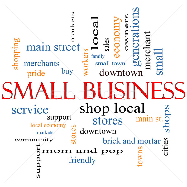Small Business Word Cloud Concept Stock photo © mybaitshop