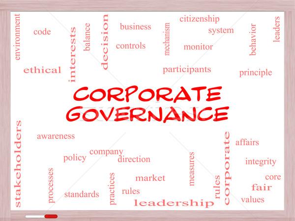 Stock fotó: Vállalati · szófelhő · tábla · nagyszerű · kód · cég