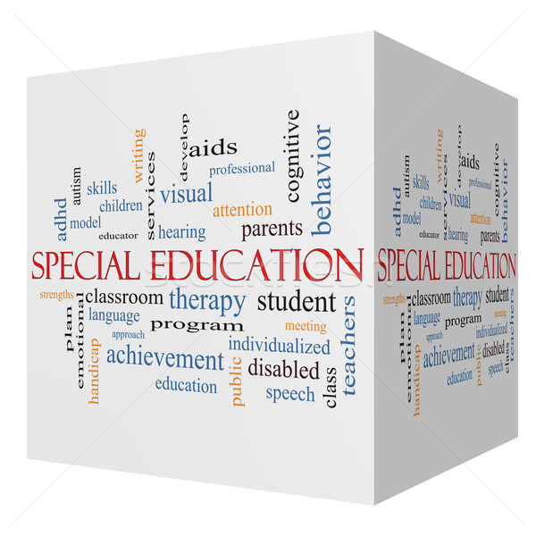 Special Education 3D cube Word Cloud Concept Stock photo © mybaitshop