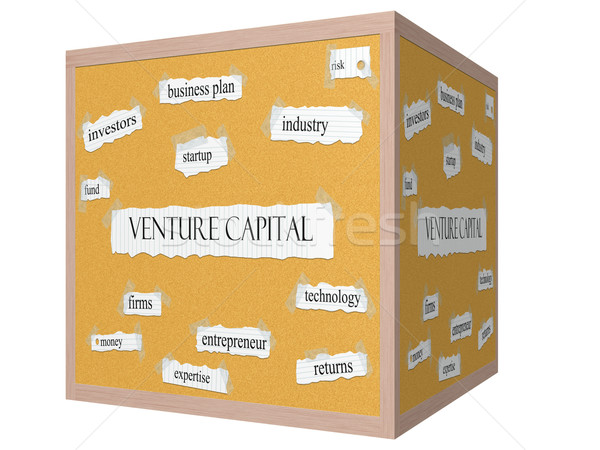Venture Capital 3D cube Corkboard Word Concept Stock photo © mybaitshop