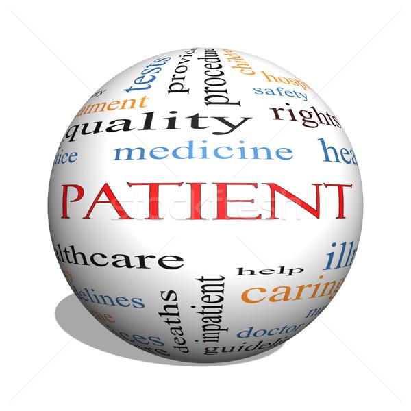 Patient 3D sphere Word Cloud Concept Stock photo © mybaitshop