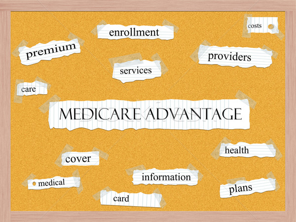Medicare Advantage Corkboard Word Concept Stock photo © mybaitshop