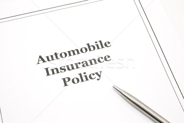 Autómobil biztosítás irányvonal toll kész pénz Stock fotó © mybaitshop