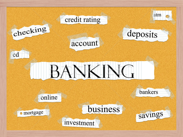 Banking Corkboard Word Concept Stock photo © mybaitshop