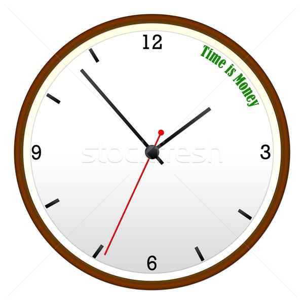 Время-деньги стены часы час Сток-фото © mybaitshop