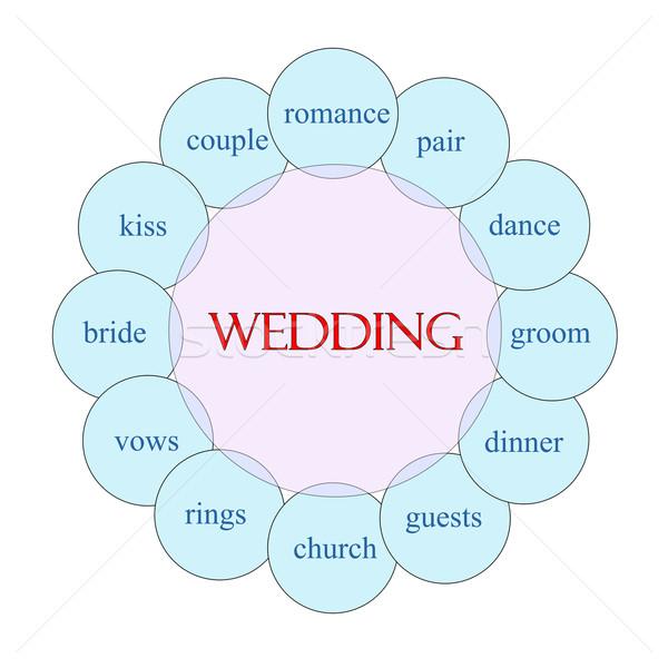 Zdjęcia stock: ślub · słowo · schemat · różowy · niebieski