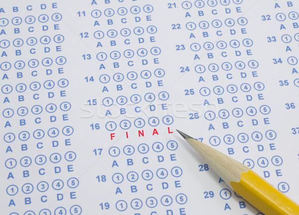 Final test scantron sheet with pencil Stock photo © mybaitshop