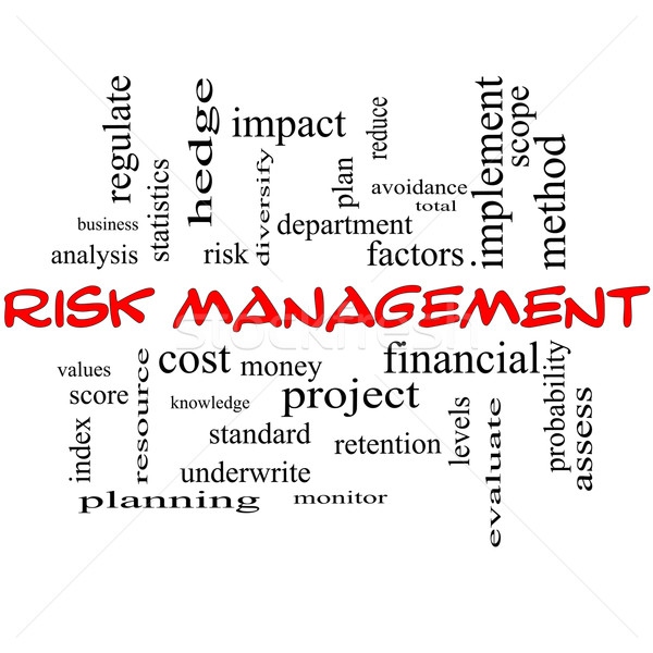 Risk Management Word Cloud Concept in red caps Stock photo © mybaitshop