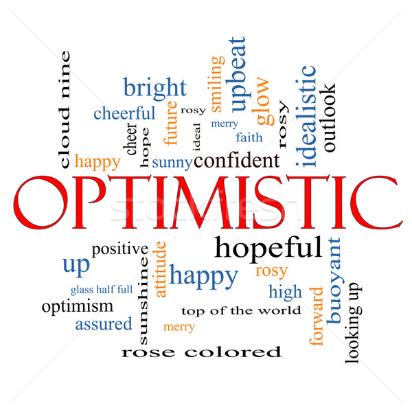 Optimistic Word Cloud Concept Stock photo © mybaitshop