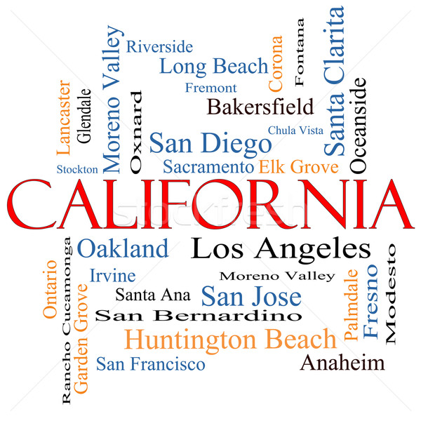 California State Word Cloud Concept Stock photo © mybaitshop