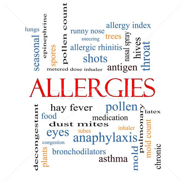 Allergies Word Cloud Concept Stock photo © mybaitshop