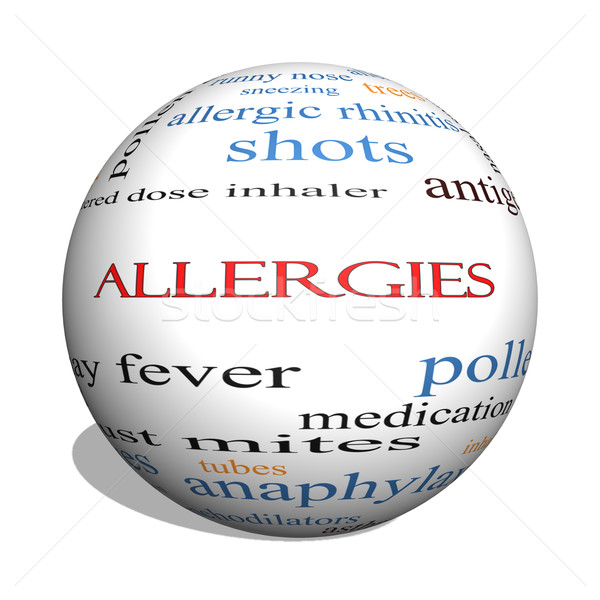 Allergies 3D sphere Word Cloud Concept Stock photo © mybaitshop