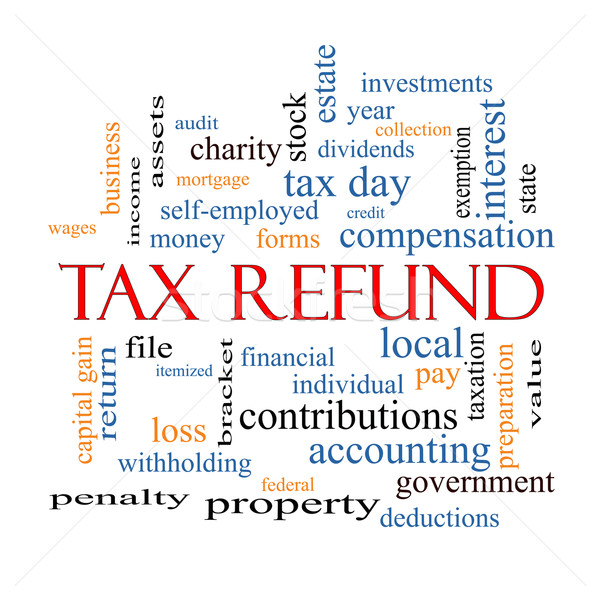 Tax Refund Word Cloud Concept Stock photo © mybaitshop