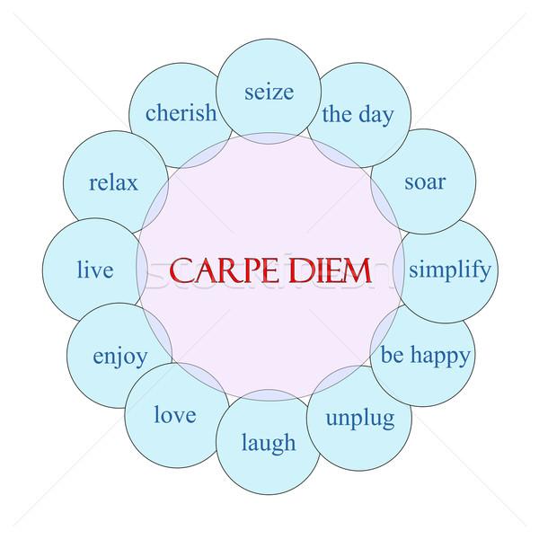 Carpe Diem Circular Word Concept Stock photo © mybaitshop