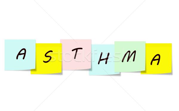астма написанный красочный бумаги Сток-фото © mybaitshop