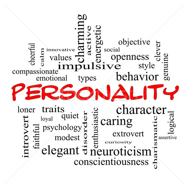 Personality Word Cloud Concept in red caps Stock photo © mybaitshop