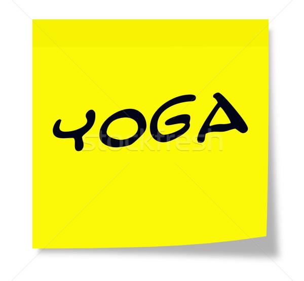 Yoga Sticky Note Stock photo © mybaitshop