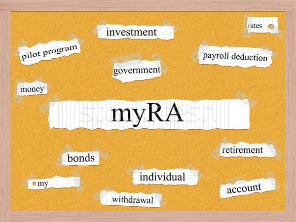 Woord groot mijn pensioen rekening overheid Stockfoto © mybaitshop