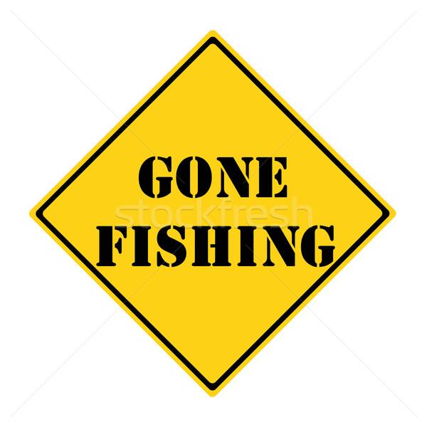 Gone Fishing Sign Stock photo © mybaitshop