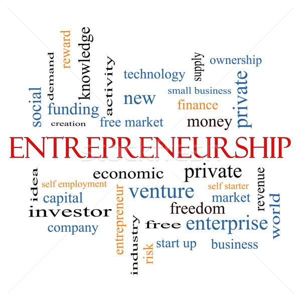 Imprenditorialità word cloud economico più Foto d'archivio © mybaitshop
