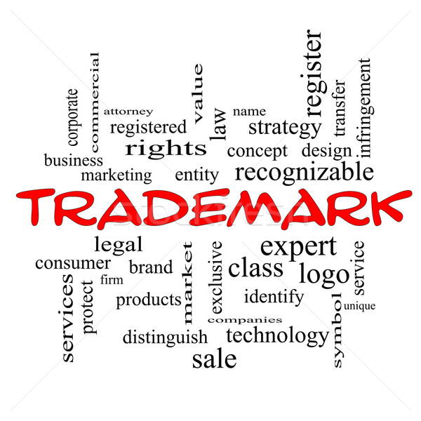 Trademark Word Cloud Concept in red caps Stock photo © mybaitshop