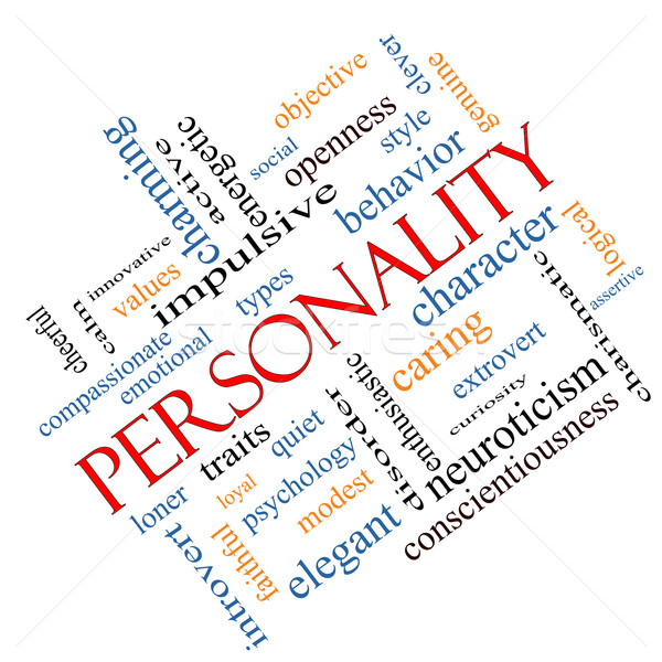 Personality Word Cloud Concept Angled Stock photo © mybaitshop