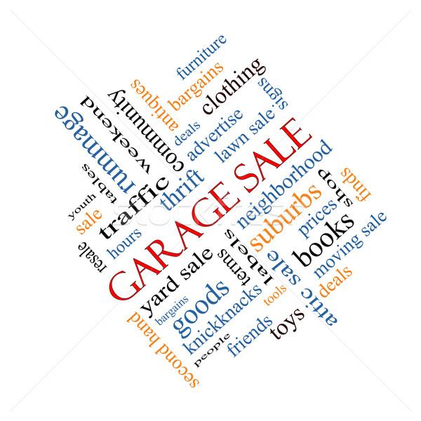 Garage Sale Word Cloud Concept Angled Stock photo © mybaitshop