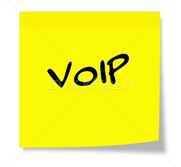 Voip karteczkę napisany papieru żółty Zdjęcia stock © mybaitshop