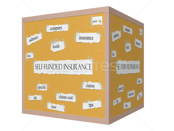 Self Funded Insurance 3D Corkboard concept Stock photo © mybaitshop