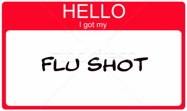Ciao influenza shot rosso targhetta Foto d'archivio © mybaitshop