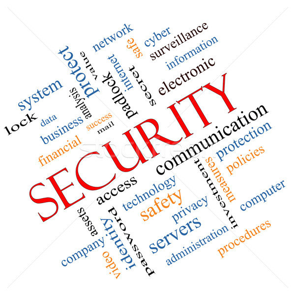 Security Word Cloud Concept angled Stock photo © mybaitshop
