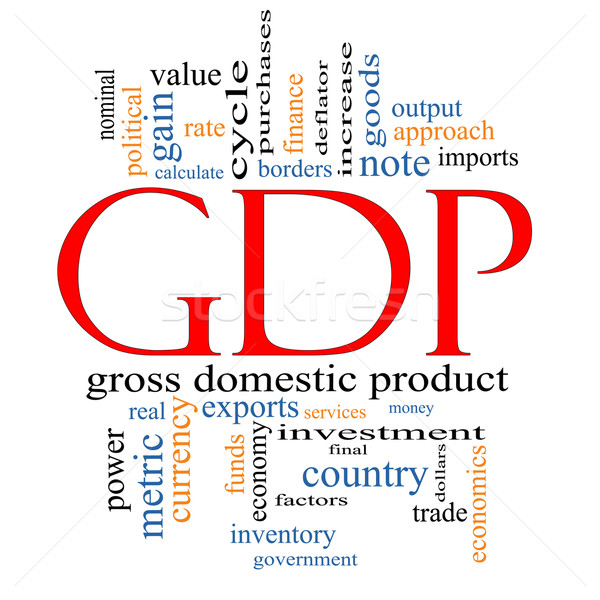 GDP Word Cloud Concept Stock photo © mybaitshop