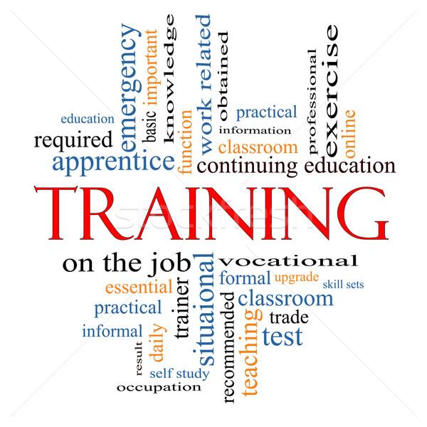 подготовки слово облако классе образование торговли Сток-фото © mybaitshop