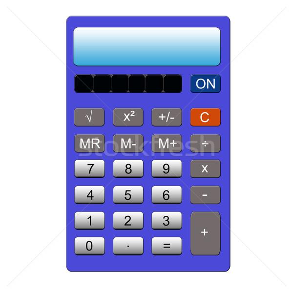 Zdjęcia stock: Niebieski · Kalkulator · imitacja · normalny · kluczowych · pamięć