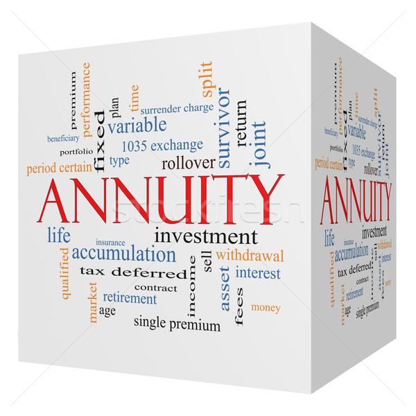 Annuity 3D cube Word Cloud Concept Stock photo © mybaitshop