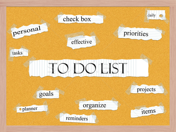 To Do List Corkboard Word Concept Stock photo © mybaitshop