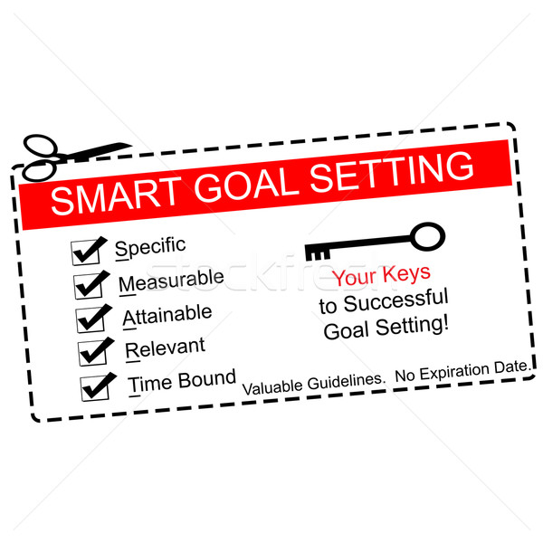 Smart Goals Setting Coupon Concept Stock photo © mybaitshop