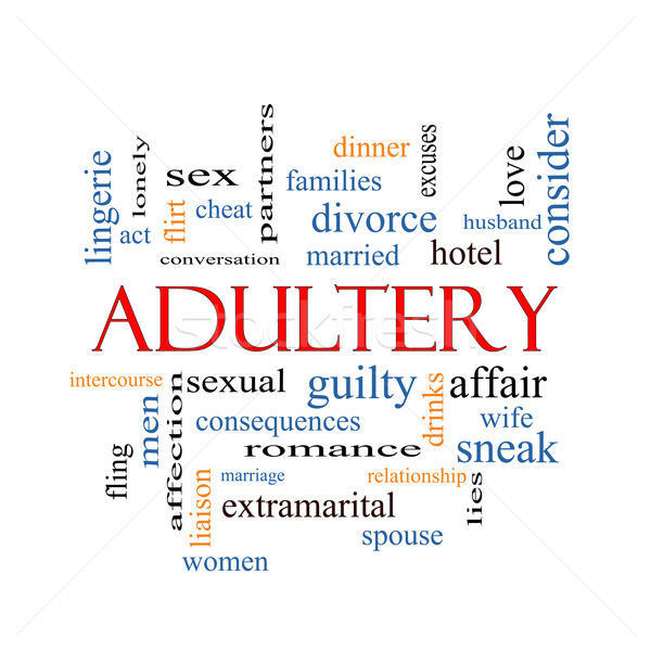 Adultery Word Cloud Concept Stock photo © mybaitshop