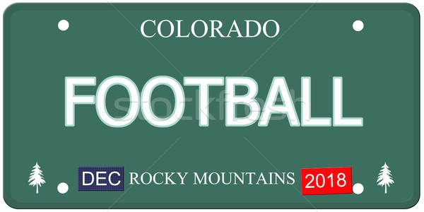 Futball Colorado rendszámtábla hamisítvány szó készít Stock fotó © mybaitshop
