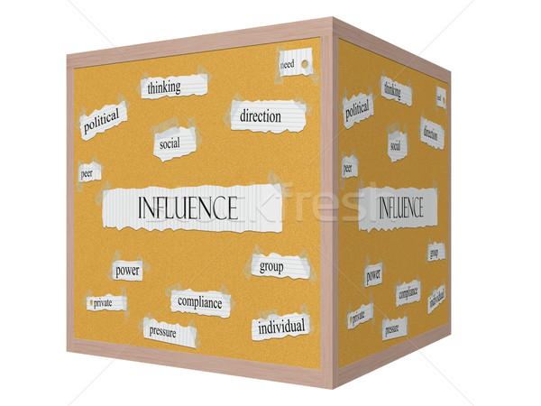 Wpływ 3D kostki słowo polityczny Zdjęcia stock © mybaitshop
