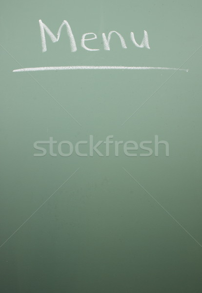 Chalkboard Menu Stock photo © mybaitshop