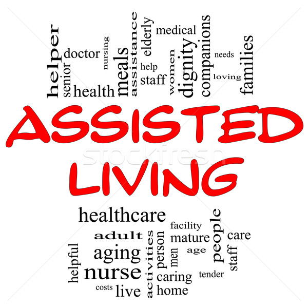 Assisted Living Concept in Red and Black Stock photo © mybaitshop